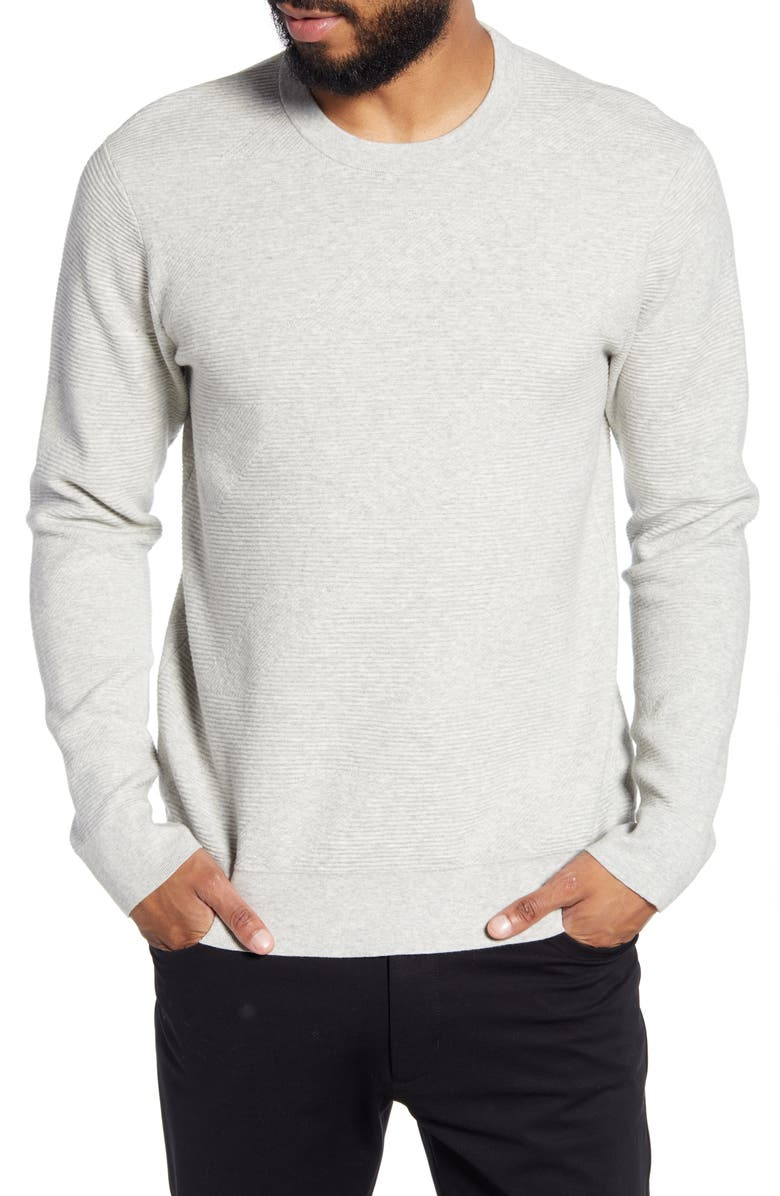 CLUB MONACO Ottoman Stitch Slim Fit Crewneck Sweater, Main, color, 020