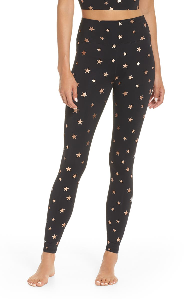 SPIRITUAL GANGSTER Starry Vibes Perfect High Waist Leggings, Main, color, 003