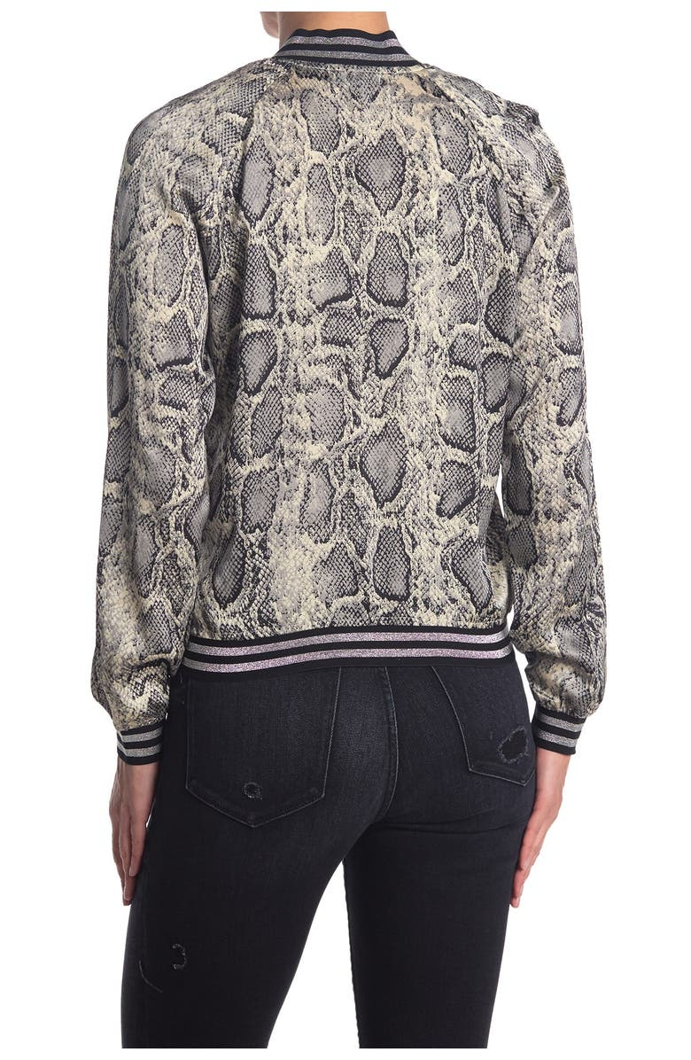 BLACK ORCHID Luxe Satin Python Jacket, Main, color, GREY PYTHON