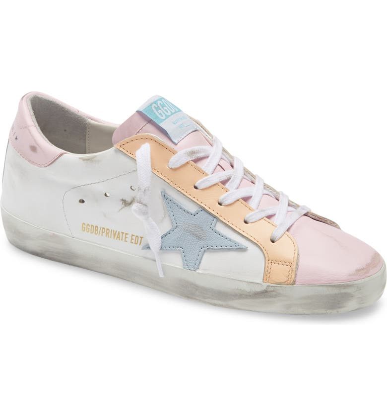 GOLDEN GOOSE Super-Star Low Top Sneaker, Main, color, WHITE LEATHER