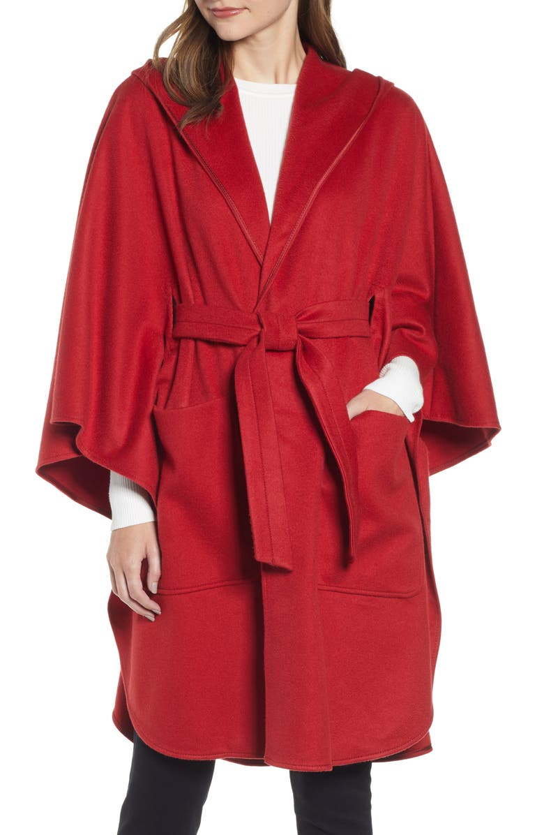 MAX MARA Belted Cashmere Poncho, Main, color, 600