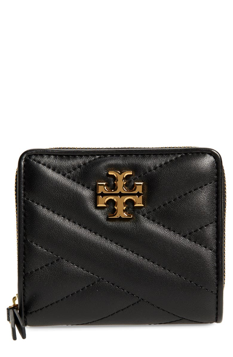 TORY BURCH Kira Chevron Quilted Bifold Wallet, Main, color, 001