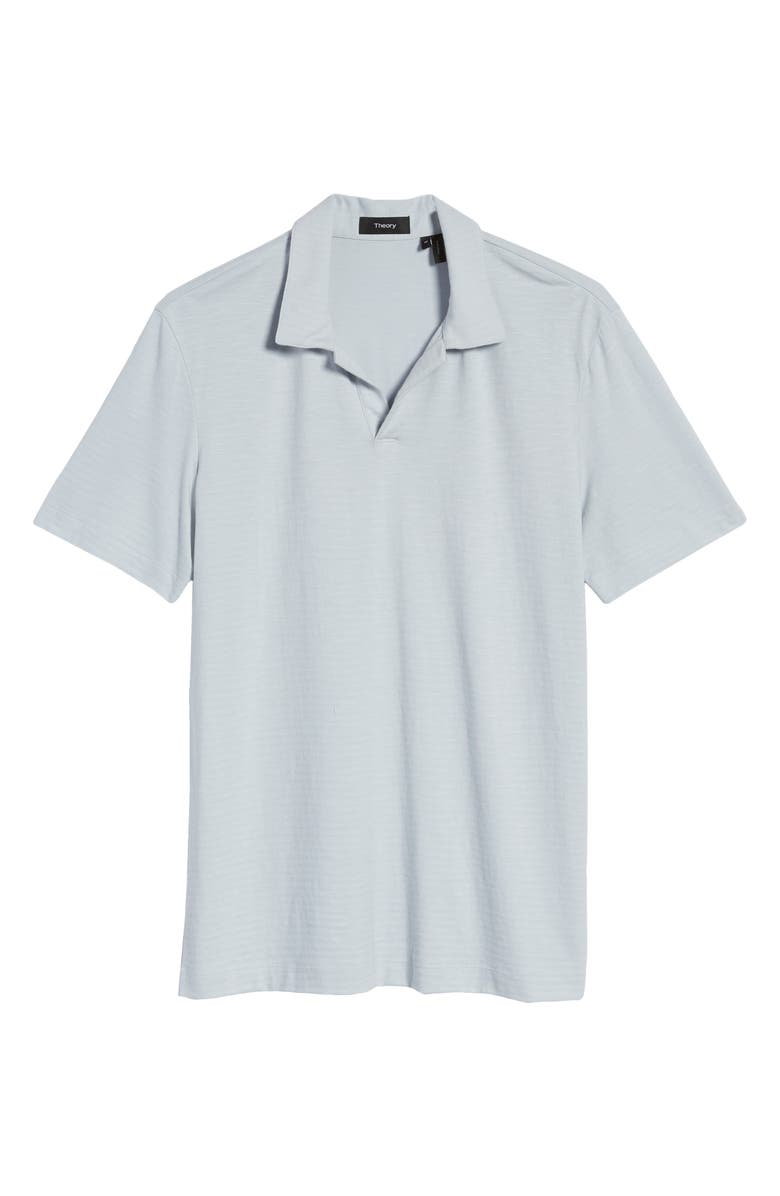 THEORY Willem Flame Short Sleeve Slub Jersey Polo, Main, color, STREAM