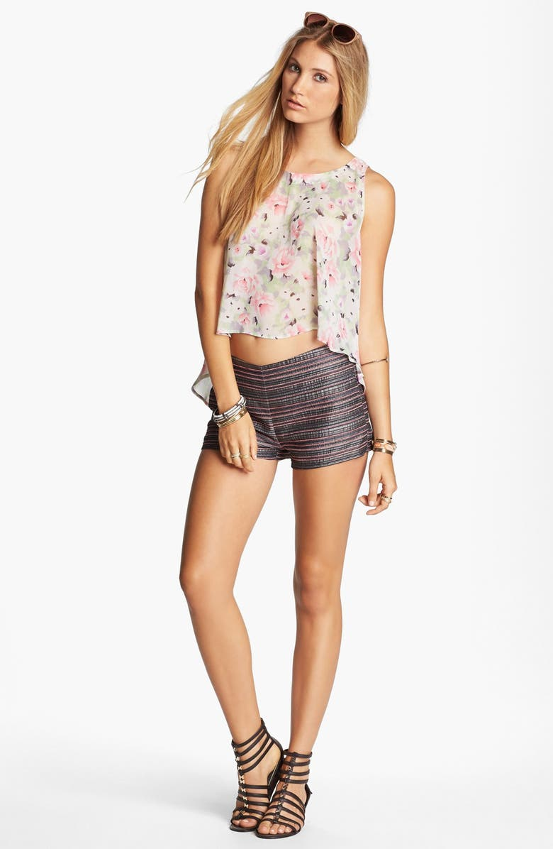 ASTR THE LABEL ASTR Button Back Swing Tank, Main, color, PINK/ BLACK