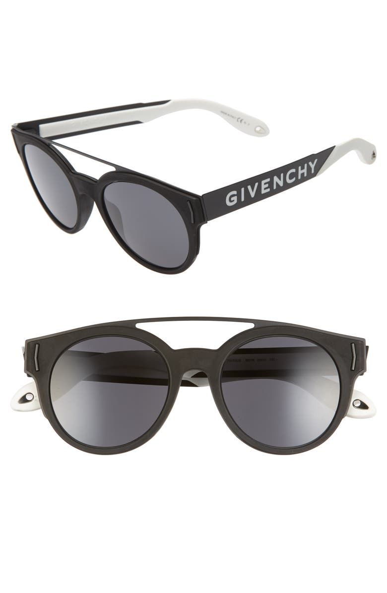 GIVENCHY 50mm Round Sunglasses, Main, color, 005