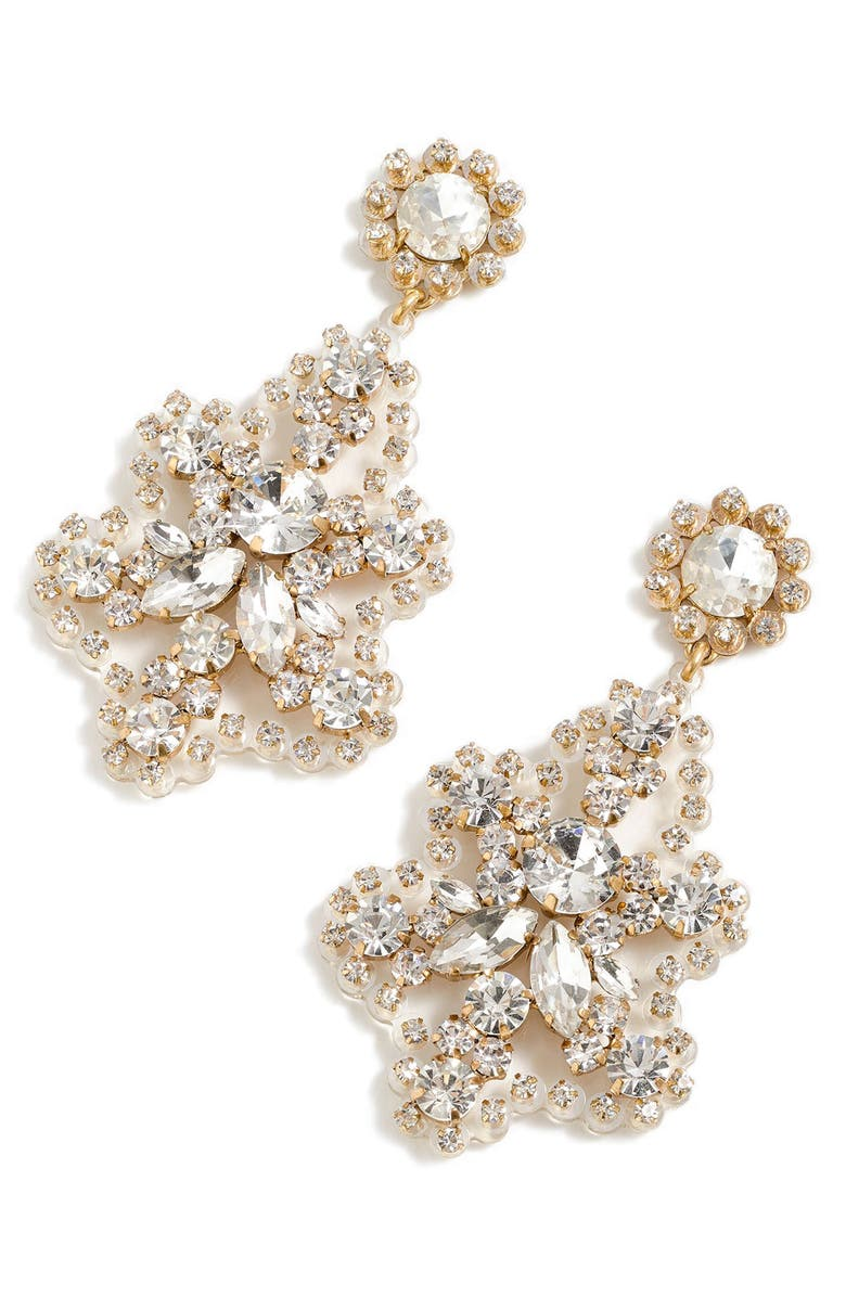 J.CREW Crystal Statement Earrings, Main, color, CRYSTAL