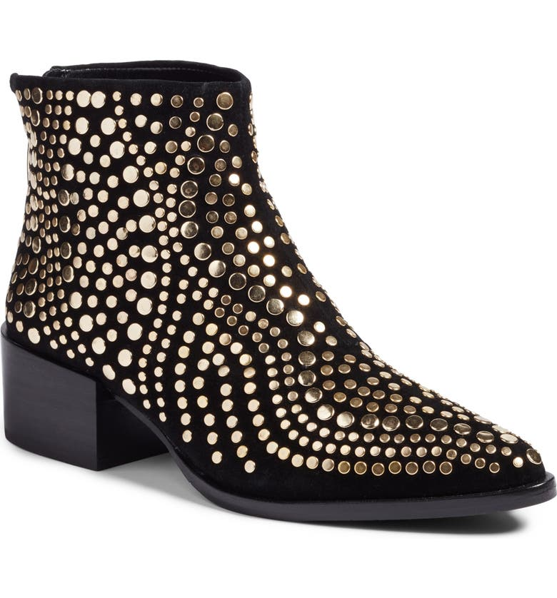 VINCE CAMUTO Edenny Studded Pointy Toe Bootie, Main, color, 002