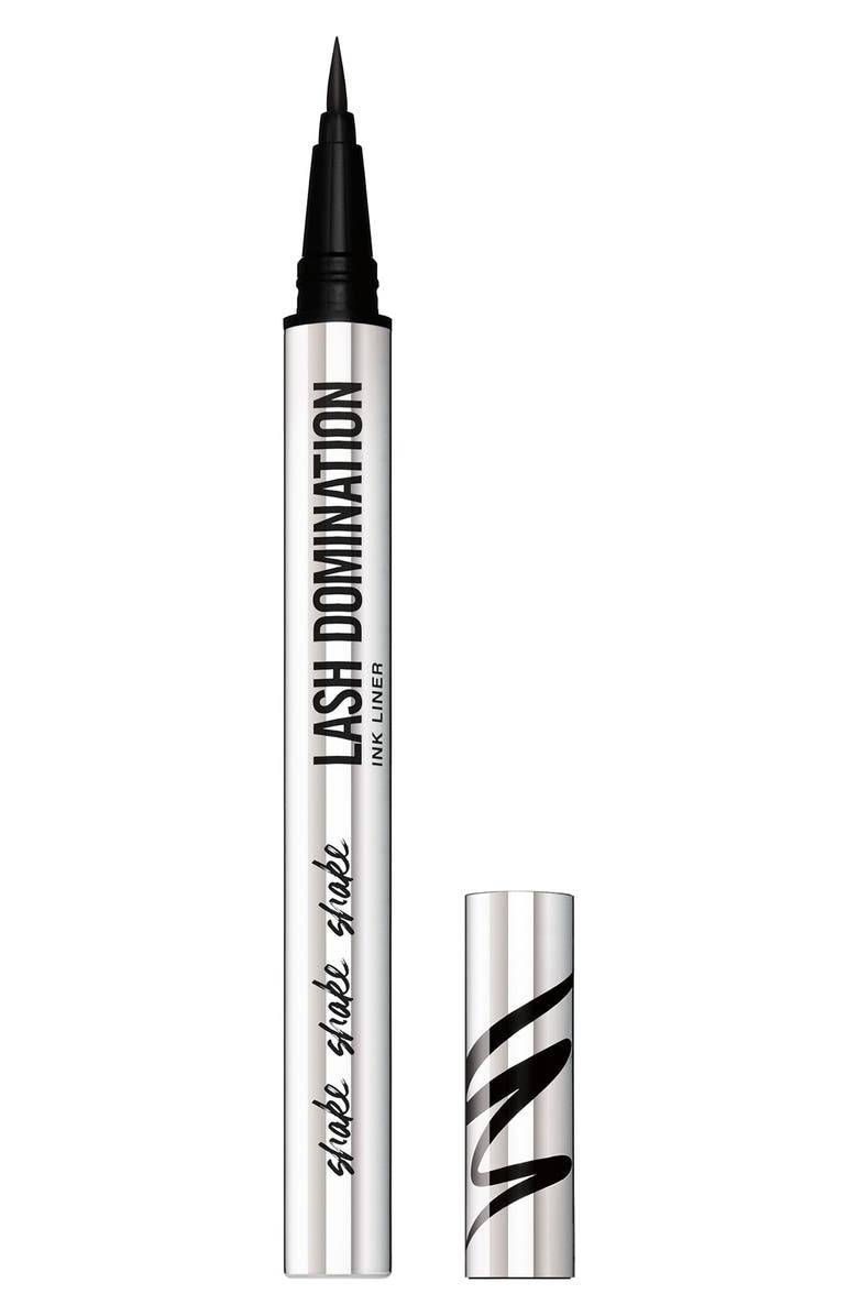 BAREMINERALS<SUP>®</SUP> LASH DOMINATION<sup>®</sup> Liquid Eyeliner, Main, color, INTENSE BLACK