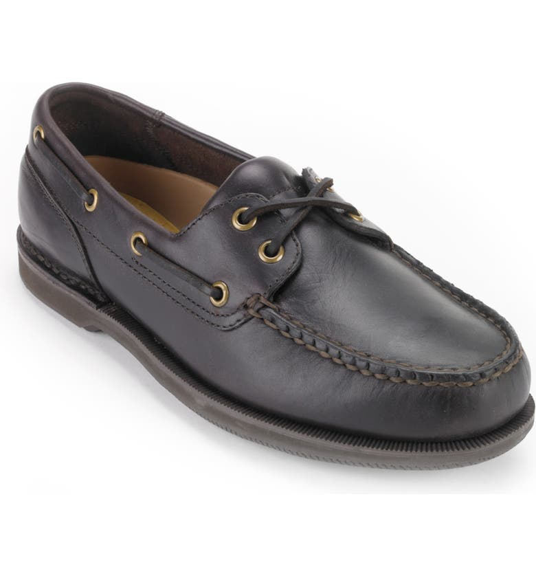 ROCKPORT 'Perth' Boat Shoe, Main, color, BROWN LEATHER