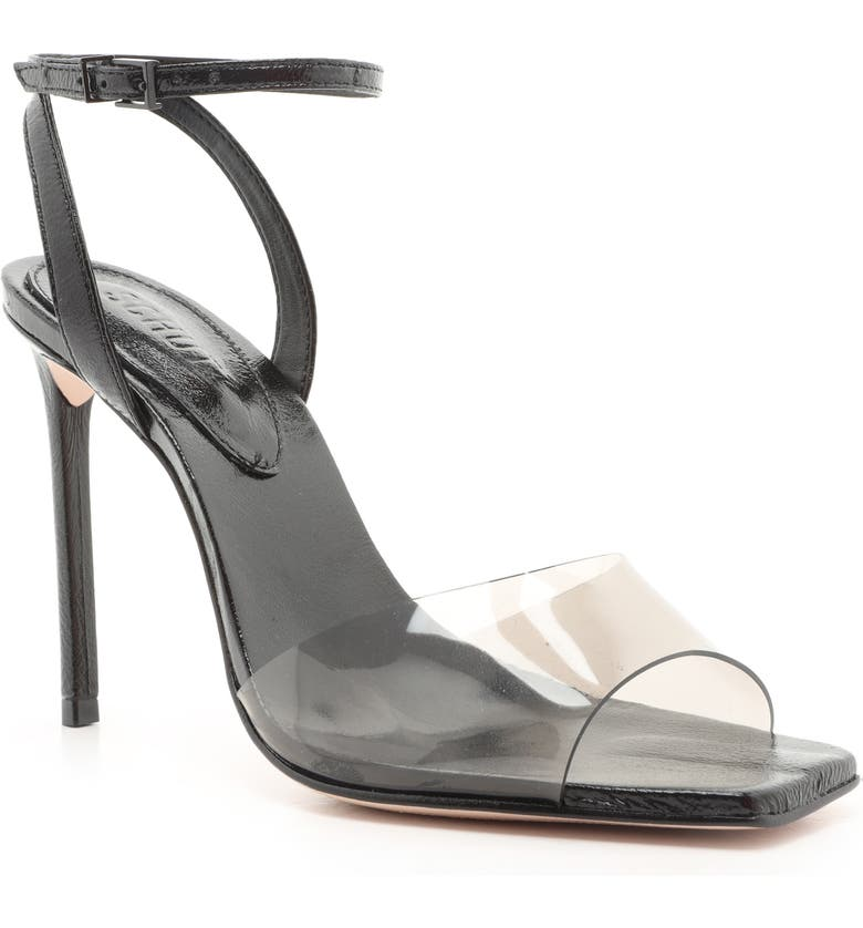 SCHUTZ Jamili Clear Ankle Strap Sandal, Main, color, 001