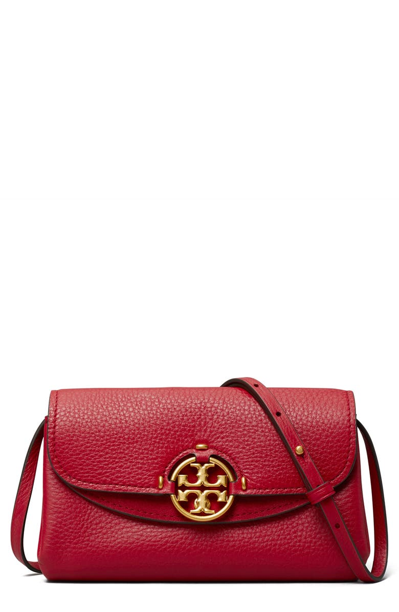 TORY BURCH Miller Crossbody Wallet, Main, color, LOGANBERRY