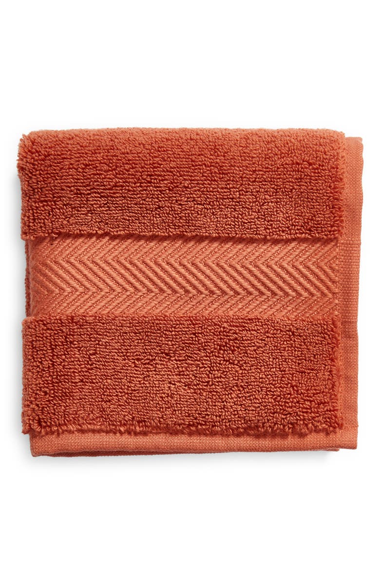 NORDSTROM Hydrocotton Washcloth, Main, color, RUST BRUSCHETTA