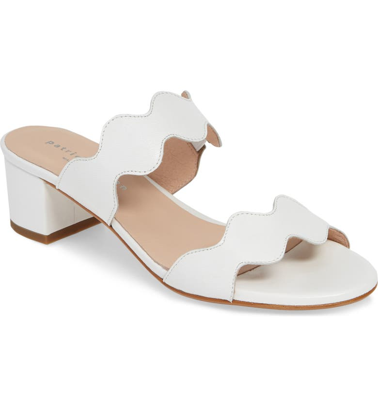 PATRICIA GREEN Palm Beach Slide Sandal, Main, color, WHITE LEATHER