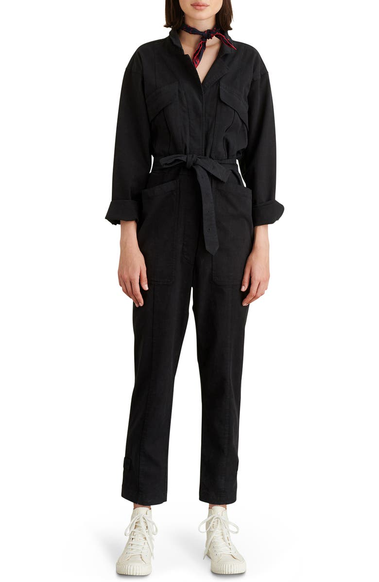 ALEX MILL Expedition Twill Jumpsuit, Main, color, Black