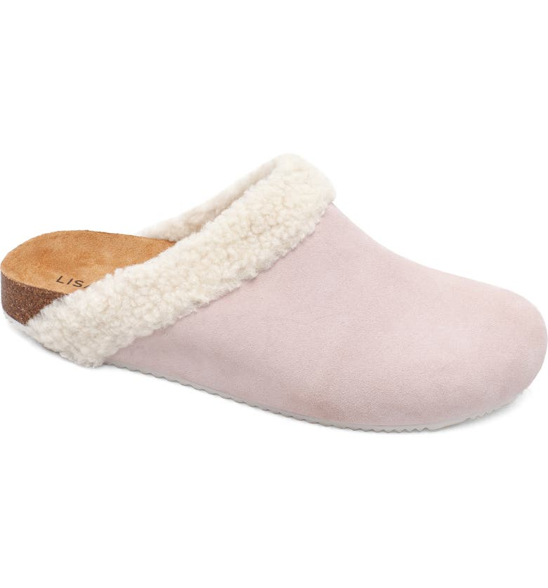 LISA VICKY Zeal Faux Shearling Mule, Main, color, PINK SUEDE