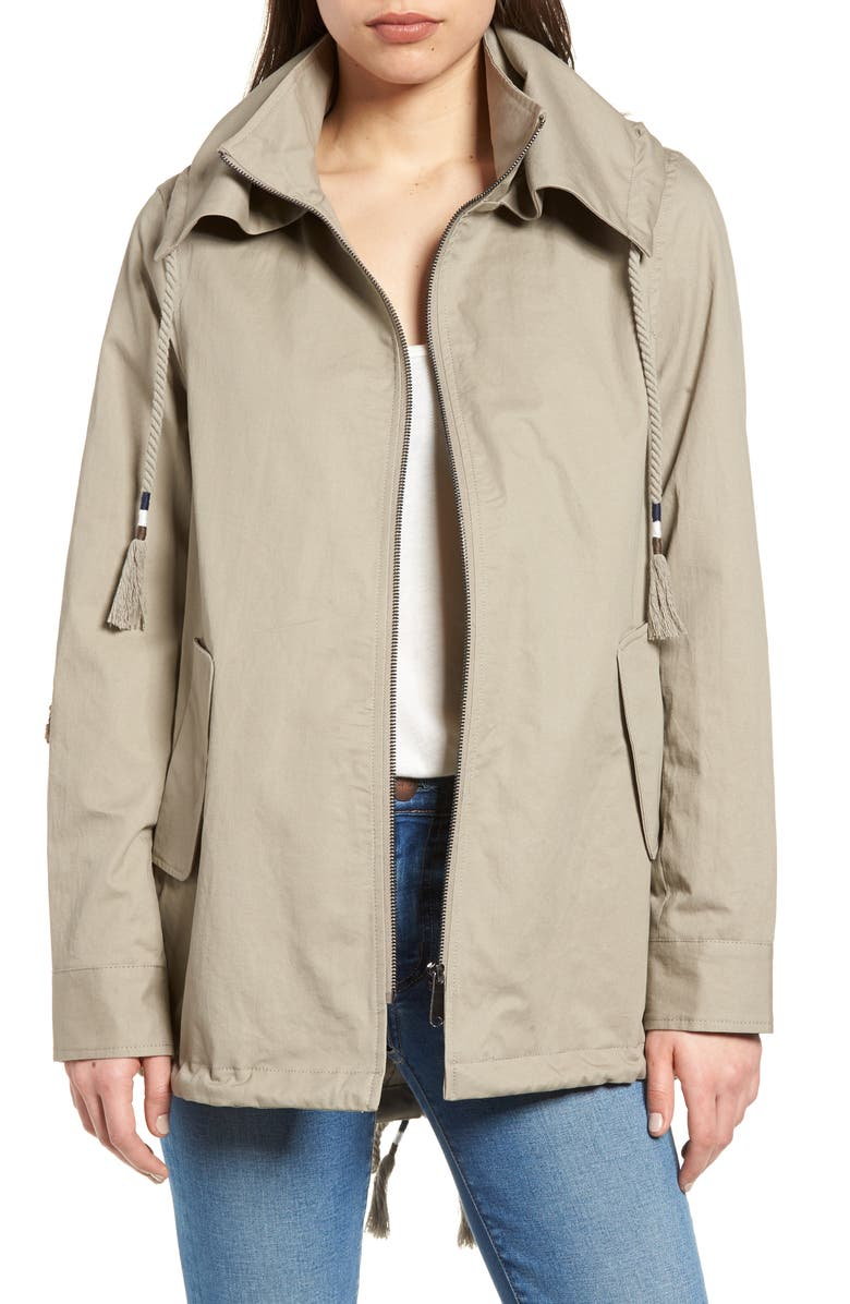 SAM EDELMAN Sequin Elbow Patch Anorak Jacket, Main, color, 263