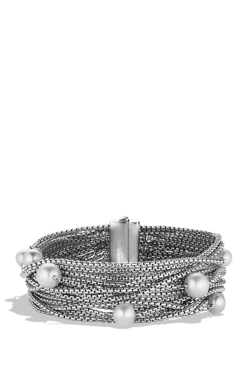 DAVID YURMAN Sixteen-Row Chain Bracelet with Pearls, Main, color, 101