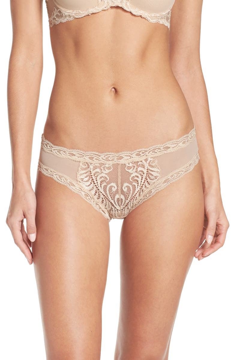 NATORI Feathers Hipster Briefs, Main, color, COSMETIC