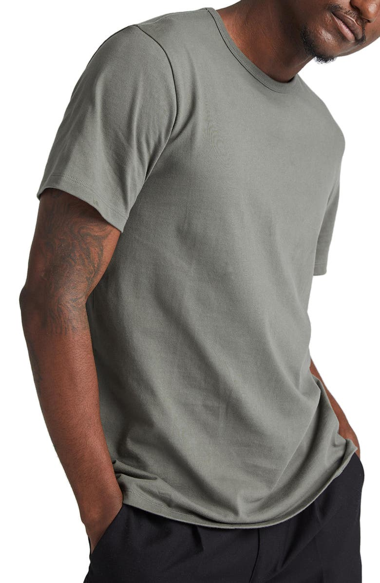 RICHER POORER Weighted Organic Cotton T-Shirt, Main, color, GUNMETAL