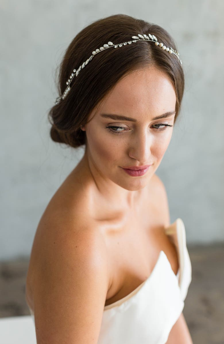 BRIDES & HAIRPINS India Halo & Sash, Main, color, 040