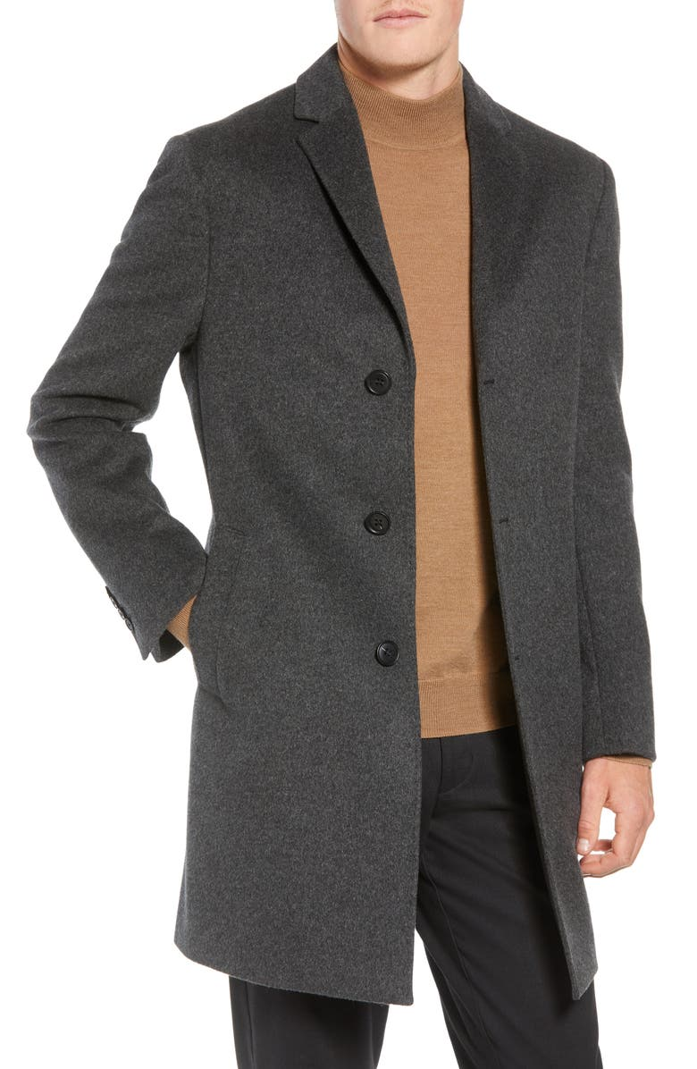 JOHN W. NORDSTROM<SUP>®</SUP> Mason Wool & Cashmere Overcoat, Main, color, CHARCOAL