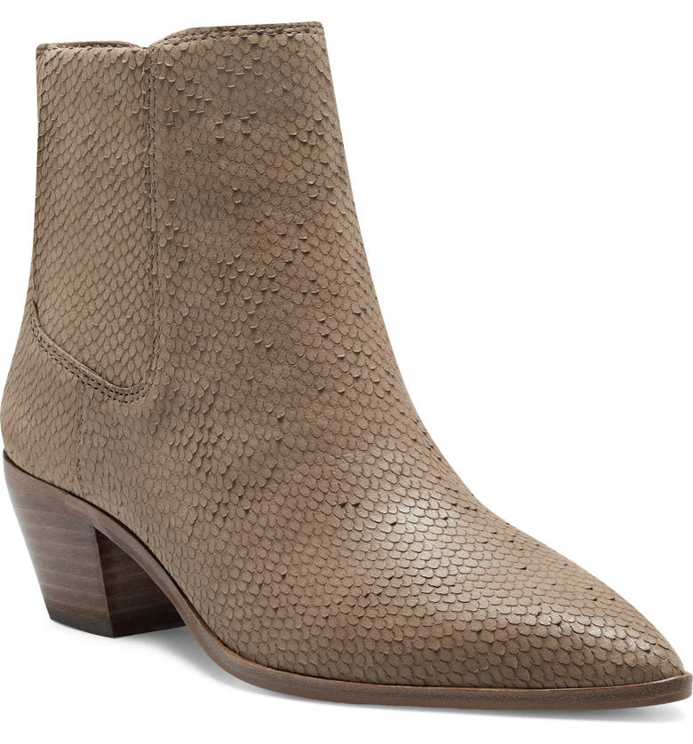 SOLE SOCIETY Lolanna Pointed Toe Bootie, Main, color, BROWN SUGAR LEATHER