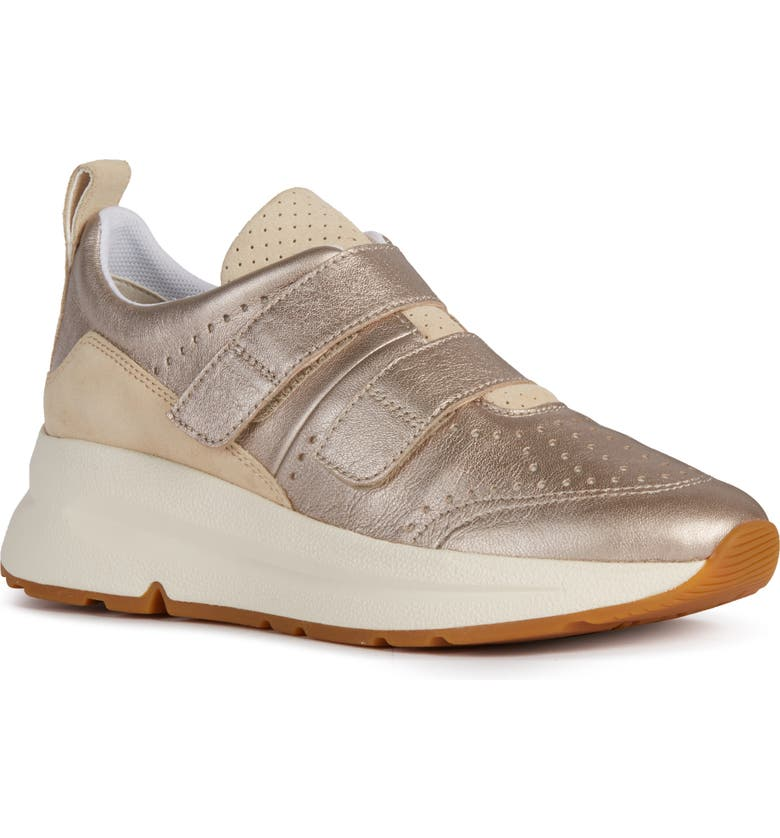 GEOX Backsie Sneaker, Main, color, CHAMPAGNE/ SAND NAPPA LEATHER