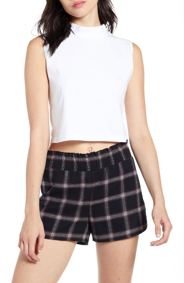 BP. x Claudia Sulewski Mock Neck Crop Top, Main, color, 100