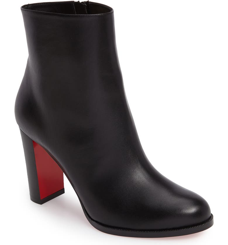 CHRISTIAN LOUBOUTIN Adox Bootie, Main, color, BLACK LEATHER