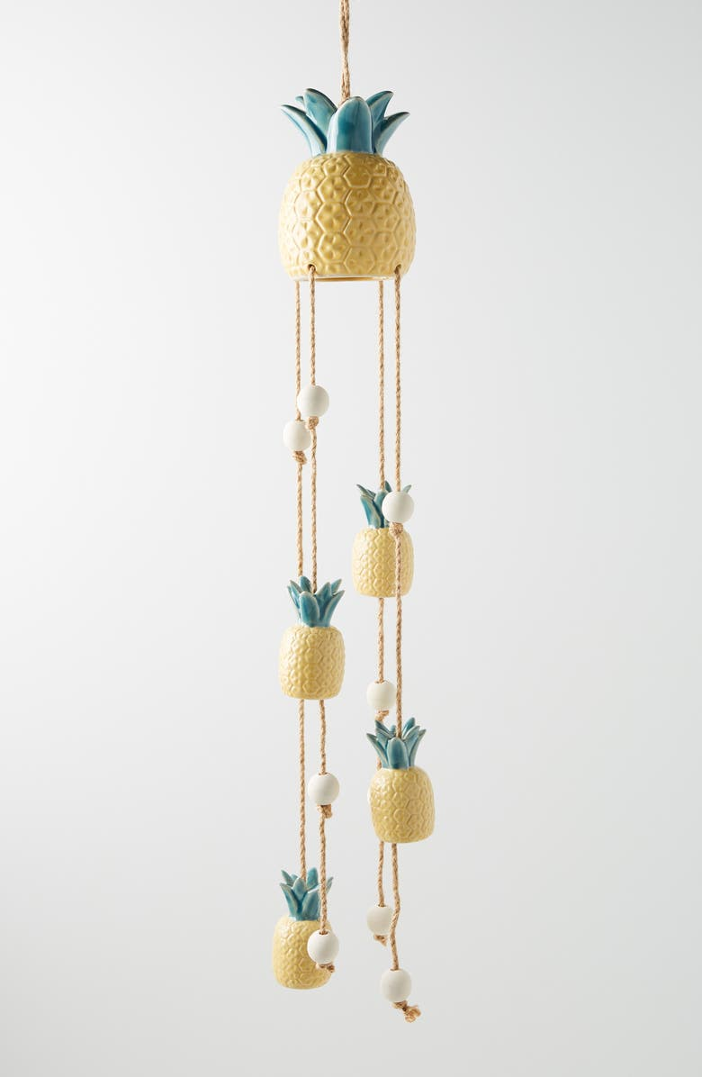ANTHROPOLOGIE HOME Anthropologie Pineapple Wind Chime, Main, color, Yellow
