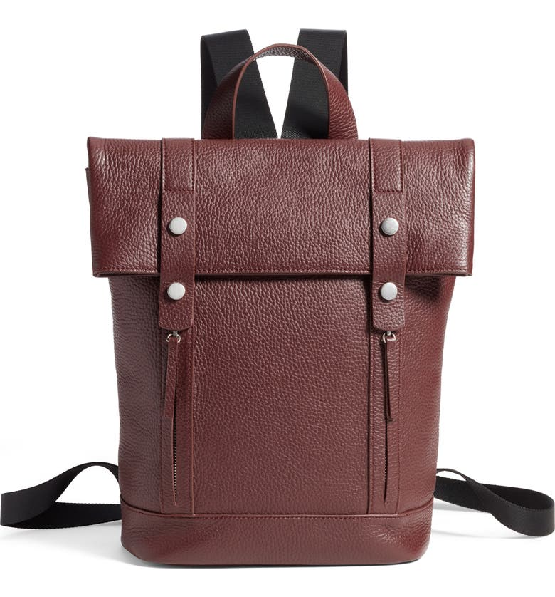 TREASURE & BOND Remy Pebbled Leather Backpack, Main, color, 930