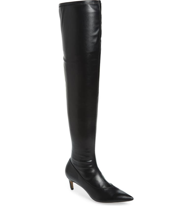 TOPSHOP Crawler Over the Knee Boot, Main, color, 001