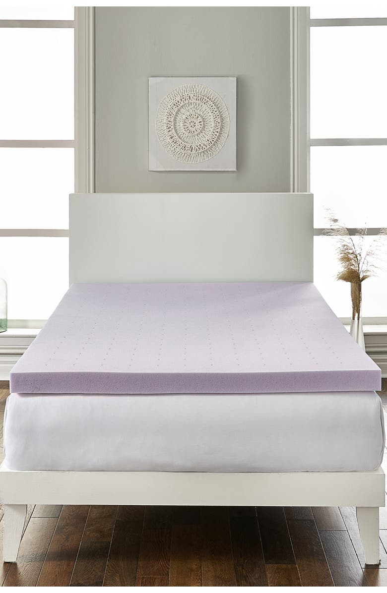 """RIO HOME Full Loftworks 2"""" Lavender infused Deep Sleep Therapy Extra Soft Mattress Foam Mattress Topper, Main, color, 100"""