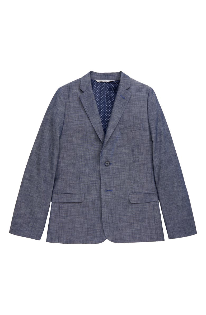NORDSTROM Chambray Sport Coat, Main, color, 450