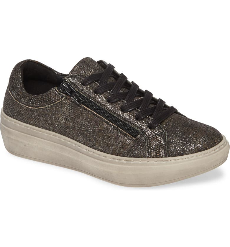 CLOUD Quantas Zip Sneaker, Main, color, GRUNGE BLACK LEATHER