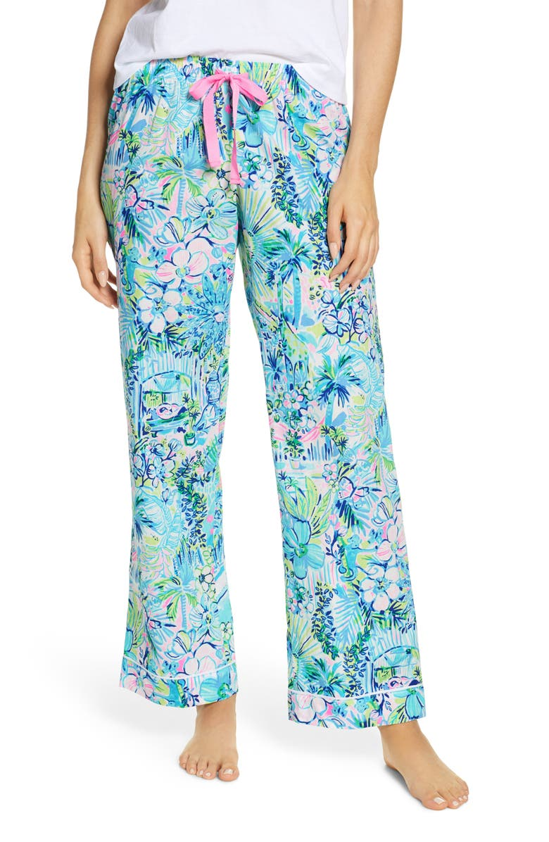 LILLY PULITZER<SUP>®</SUP> Woven Pajama Pants, Main, color, 400