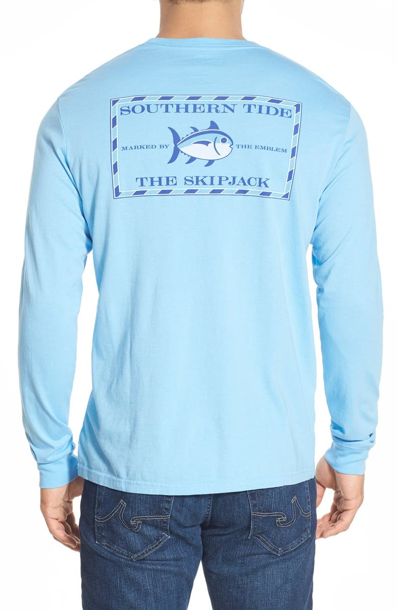 SOUTHERN TIDE Skipjack Long Sleeve Graphic Tee, Main, color, OCEAN CHANNEL
