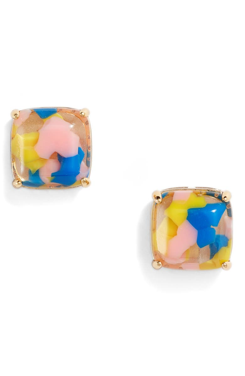 KATE SPADE NEW YORK small square stud earrings, Main, color, 100