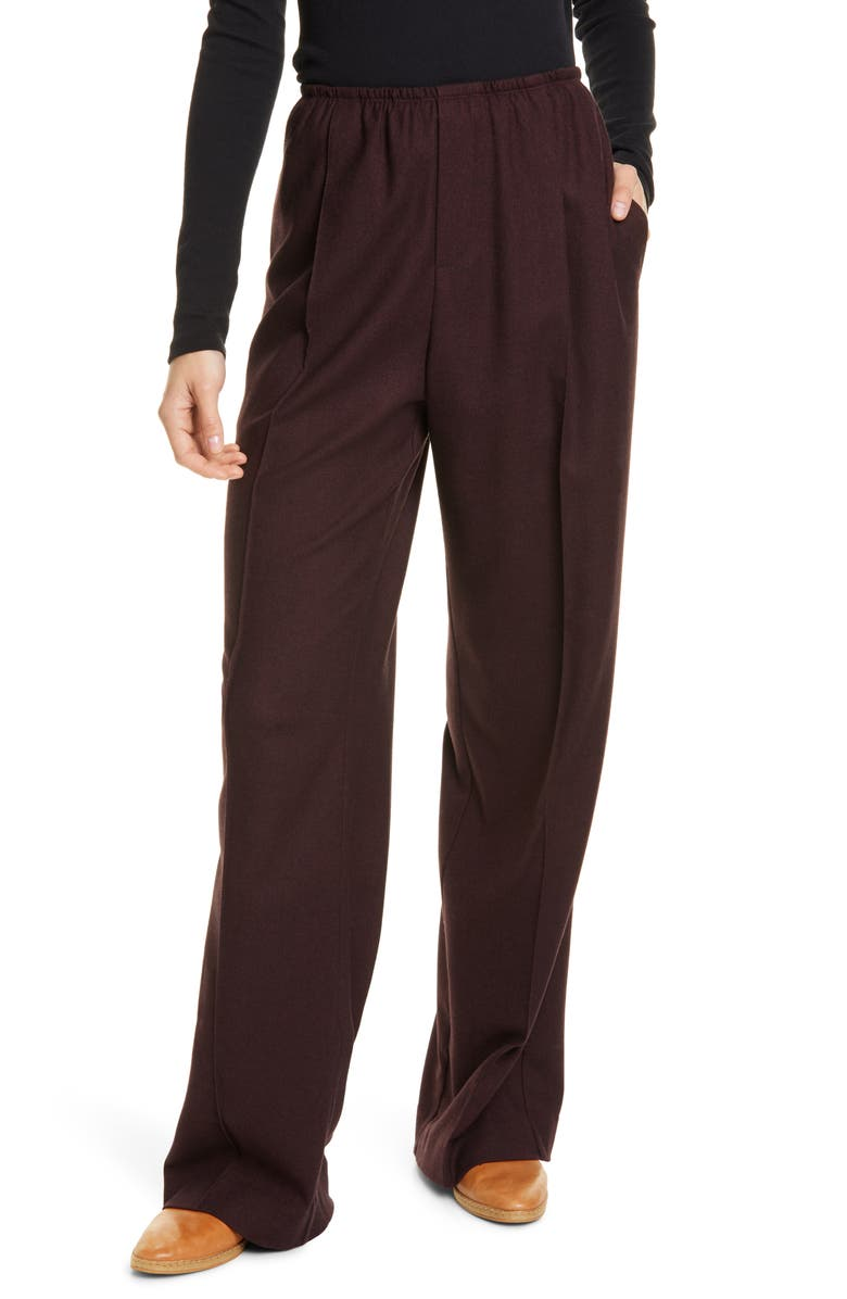 VINCE Wide Leg Flannel Pants, Main, color, 551