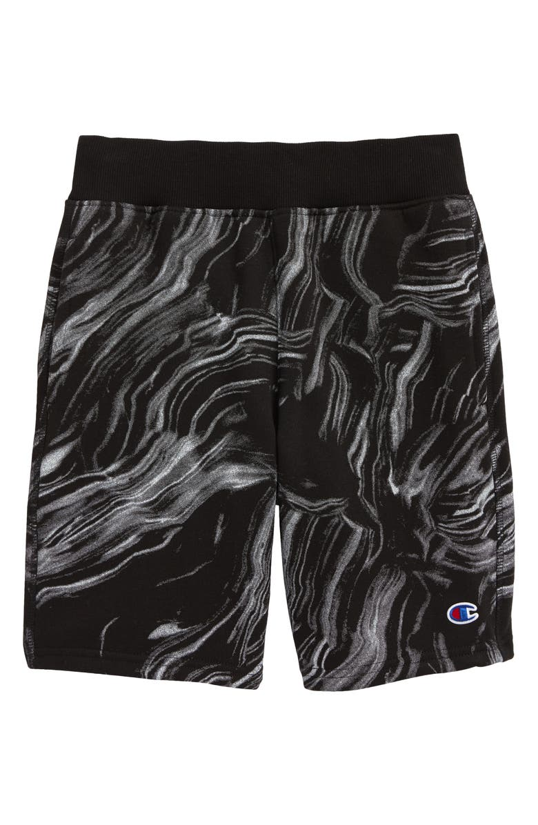 CHAMPION Kids' Marble Flow Athletic Shorts, Main, color, 001