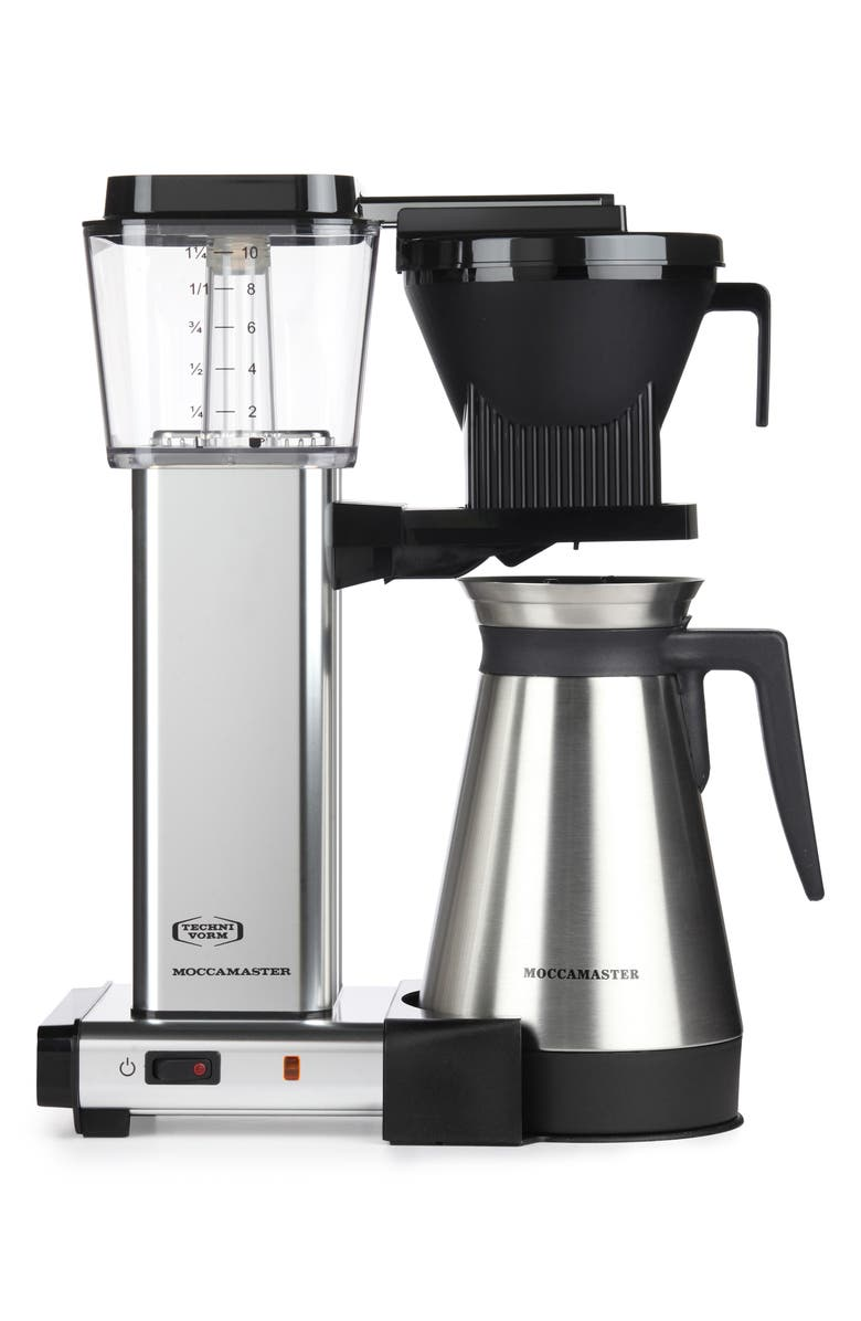 MOCCAMASTER KBGT Thermal Coffee Brewer, Main, color, POLISHED SILVER