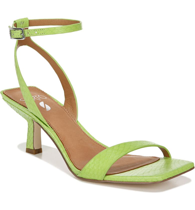 SARTO BY FRANCO SARTO Bona Ankle Strap Sandal, Main, color, LIME LEATHER
