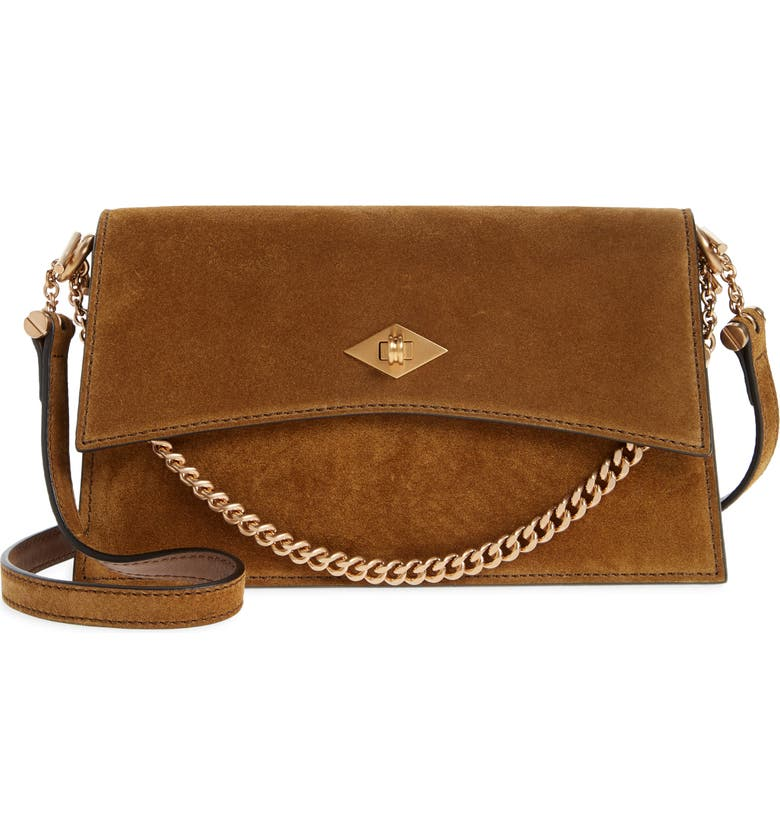MÉTIER LONDON Mini Roma Suede Crossbody Bag, Main, color, MARRAKECH