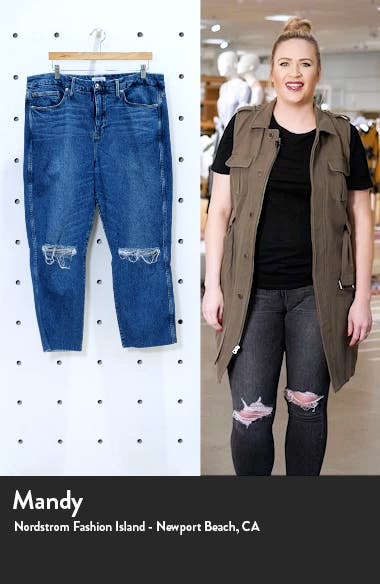 Good Curve Raw Hem High Waist Ankle Straight Jeans, sales video thumbnail