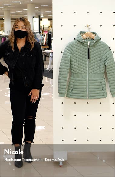 Vanilla Sky Water Repellent 800 Fill Power Down Hooded Jacket, sales video thumbnail