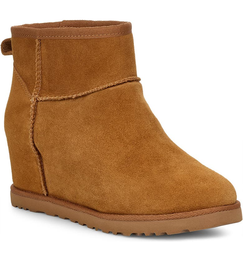 UGG<SUP>®</SUP> Classic Femme Mini Wedge Bootie, Main, color, 219