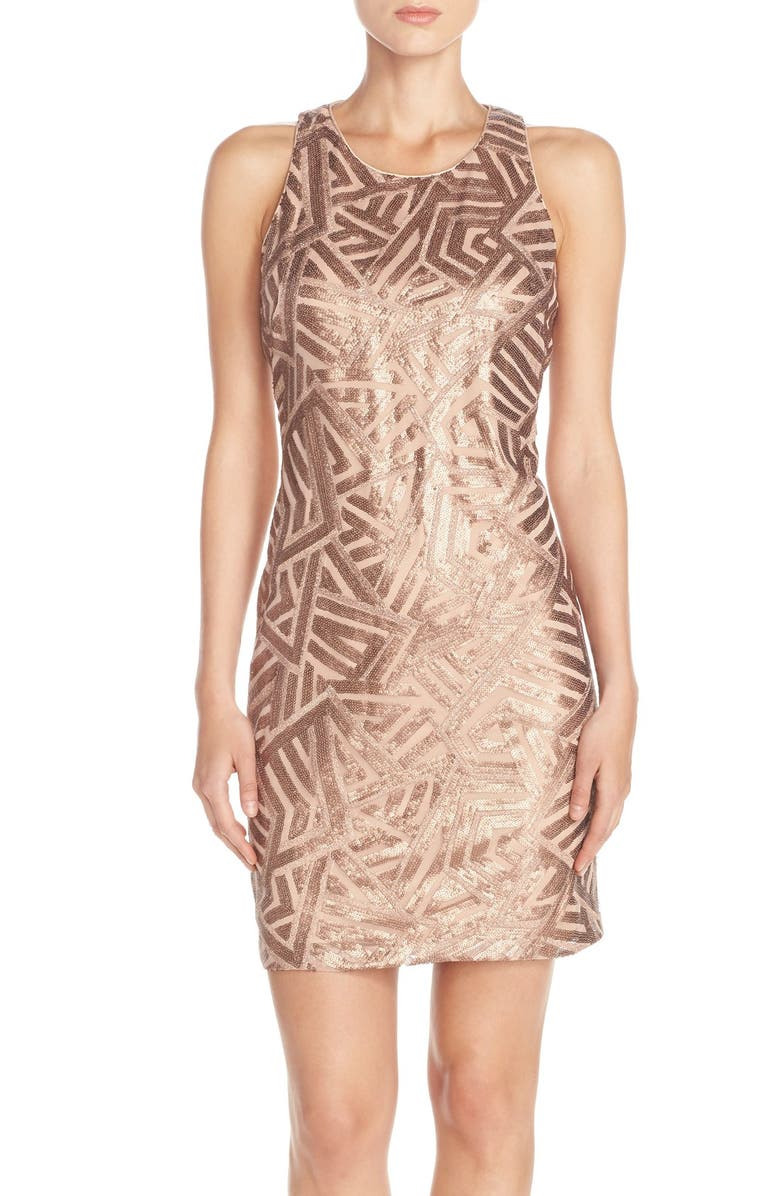 VINCE CAMUTO Sequin Sheath Dress, Main, color, 220