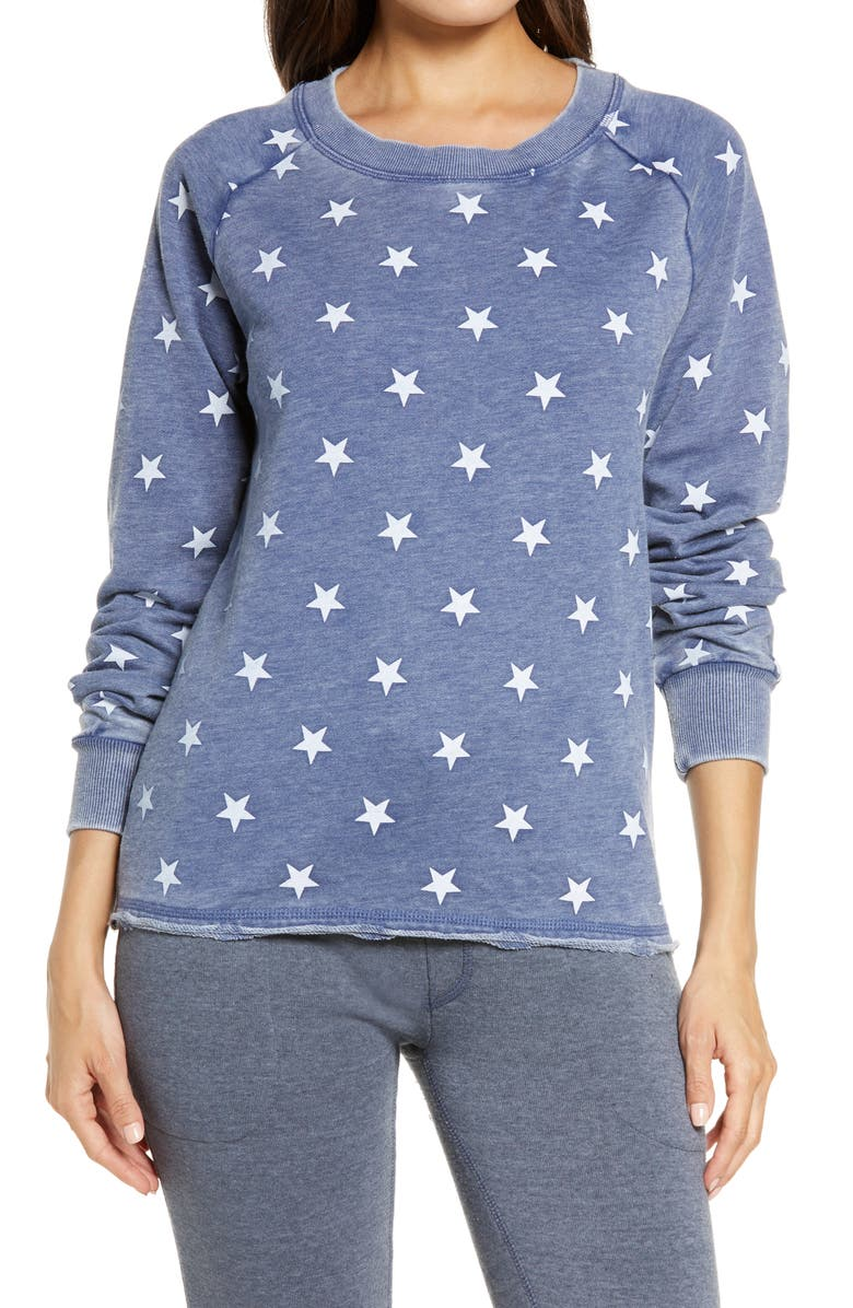 ALTERNATIVE Lazy Day Sweatshirt, Main, color, NAVY STARS