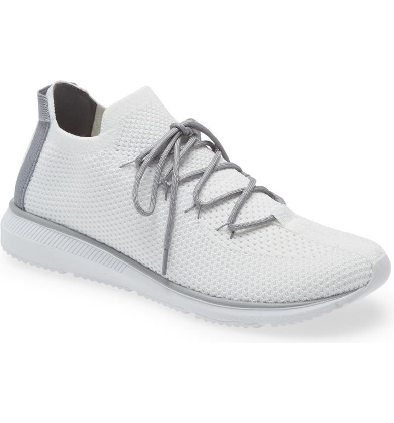 EILEEN FISHER Renew Knit Sneaker, Main, color, WHITE FABRIC
