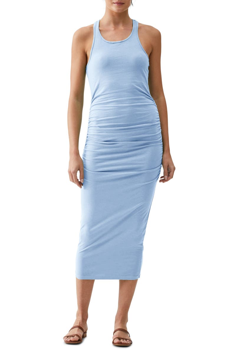 MICHAEL STARS Racerback Midi Dress, Main, color, SKY